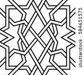 geometric interlaced pattern.... | Shutterstock .eps vector #584651575