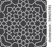 islamic pattern. seamless... | Shutterstock .eps vector #584651581