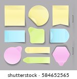 collection of different office... | Shutterstock .eps vector #584652565