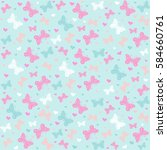 seamless pattern with... | Shutterstock .eps vector #584660761