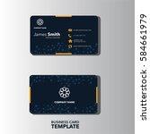 modern business card template | Shutterstock .eps vector #584661979