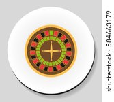 roulette is a casino game... | Shutterstock .eps vector #584663179