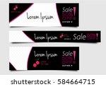 set of abstract banner design | Shutterstock .eps vector #584664715