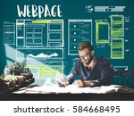 website development layout... | Shutterstock . vector #584668495