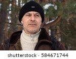 portrait of a calm man in...   Shutterstock . vector #584671744