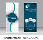 roll up banner stand template.... | Shutterstock .eps vector #584673091