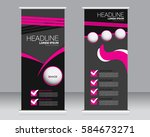 roll up banner stand template.... | Shutterstock .eps vector #584673271
