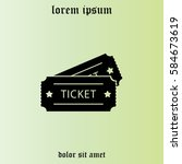 ticket icon. vector... | Shutterstock .eps vector #584673619