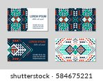 aztec style colorful business... | Shutterstock .eps vector #584675221