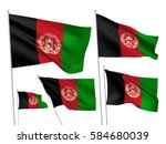 afghanistan vector flags set. 5 ... | Shutterstock .eps vector #584680039