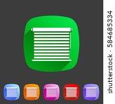 window louvers  plisse ... | Shutterstock .eps vector #584685334