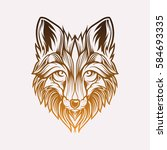 abstract head fox hand draw | Shutterstock .eps vector #584693335