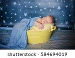 new born baby boy    Shutterstock . vector #584694019