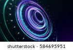 space concept for digital... | Shutterstock . vector #584695951