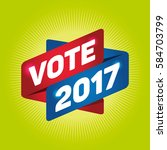 vote 2017 arrow tag sign.   Shutterstock .eps vector #584703799