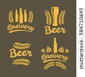 brewery  bar  beer logo.... | Shutterstock .eps vector #584710645