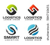 logistic company vector logo.... | Shutterstock .eps vector #584710651