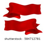 realistic red ribbon vector... | Shutterstock .eps vector #584712781
