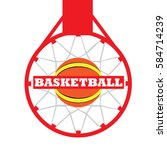 isolated basketball net with a... | Shutterstock .eps vector #584714239