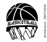 isolated basketball emblem with ... | Shutterstock .eps vector #584714245