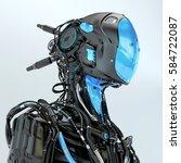 Black Robotic Soldier Pilot...