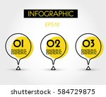 yellow circle infographic with... | Shutterstock .eps vector #584729875