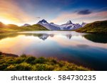great view of the snow rocky... | Shutterstock . vector #584730235