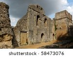 Stock photo wolvesey castle winchester hampshire the castle was an important residence of the powerful 58473076