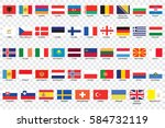 an illustrated country flags of ... | Shutterstock . vector #584732119