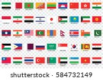 an illustrated country flags of ... | Shutterstock . vector #584732149