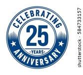 25 years anniversary logo... | Shutterstock .eps vector #584733157