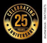 25 years anniversary logo... | Shutterstock .eps vector #584733271