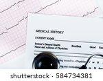 examination of... | Shutterstock . vector #584734381