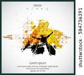silhouette of dancing people | Shutterstock .eps vector #584736391