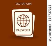 passport icon vector... | Shutterstock .eps vector #584737315