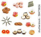 collage of various sweet foods...   Shutterstock . vector #58473826