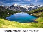 swiss beauty  schreckhorn and...   Shutterstock . vector #584740519