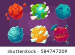 set of vector cartoon... | Shutterstock .eps vector #584747209
