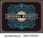 old whiskey label | Shutterstock .eps vector #584749291