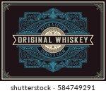 old whiskey label | Shutterstock .eps vector #584749291