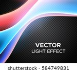colorful vector light effect on ... | Shutterstock .eps vector #584749831