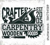 vintage woodworking logo design ...   Shutterstock .eps vector #584754589