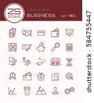 line icons business set 1 | Shutterstock .eps vector #584755447