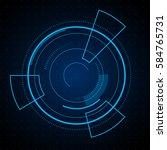ui futuristic techno abstract...