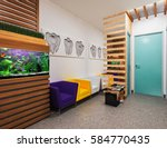reception in dental clinic... | Shutterstock . vector #584770435