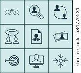 set of 9 business management...   Shutterstock . vector #584770531