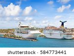 nassau  bahamas   april 13 ... | Shutterstock . vector #584773441