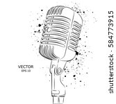 the image of the microphone.... | Shutterstock .eps vector #584773915