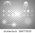 glowing lights  stars and... | Shutterstock . vector #584775055