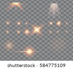 glowing lights  stars and... | Shutterstock . vector #584775109